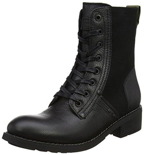 g star stiefeletten G-STAR RAW Damen Labour Biker Boots, Schwarz (Black), 39 EU