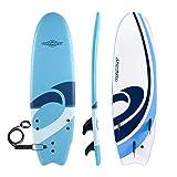 Osprey Foam Surfboard Soft Foamie Complete with Leash and Fins, Logo-Blue, 6 ft