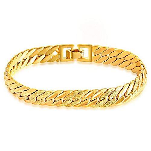 DX.OPK 18 Karat / 750 Gold Goldkette Männer Damen Armband 21cm Lang Armkette Perfekt Geburtstag Jahrestag Hochzeit Geschenk