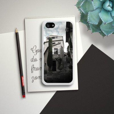 Apple iPhone 4 Housse Étui Silicone Coque Protection Ruine Photographie Village Housse en silicone blanc