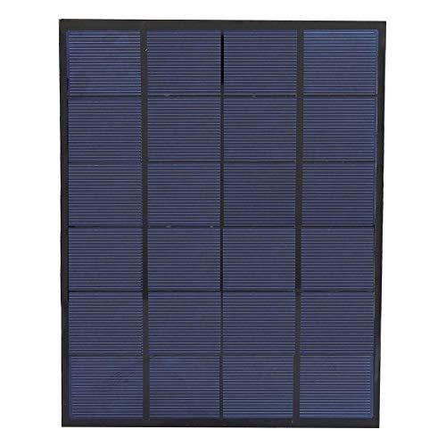 Alomejor 5 Watt 6 V Solarbetriebene Panel Tragbare Solar Panel Ladegerät Bundle für Zuhause Outdoor Reisen Wandern Camping