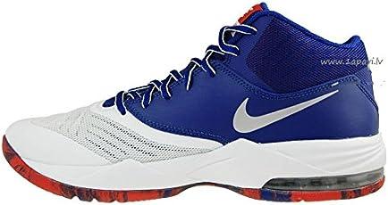 Nike Men White & Blue Air Max Emergent Basketball Shoes