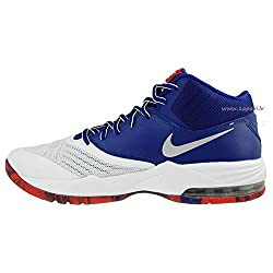 Nike Men White & Blue Air Max Emergent Basketball Shoes (7 UK/India)
