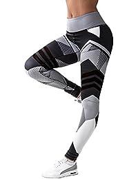 166322b96cd LaLaAreal Mallas Deportivas Mujer Leggins Yoga Pantalon Elastico Cintura  Altura Polainas para Running Pilates Fitness