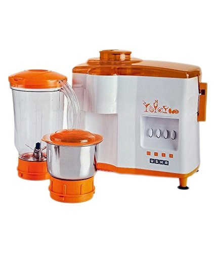 Usha 450W Juicer Mixer Grinder, Orange