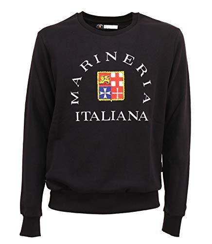 Marineria Italiana Felpa Uomo Cotone (3XL IT Uomo)