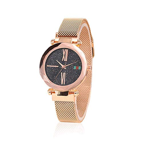 Ting-Times Simulated Luxurious Magnet Belt Buckle Watch, Starry Sky Simulated Diamond and Fashion Women Watch, Casual Wrist Watch, Creative Quartz Watch For Ladies (03)