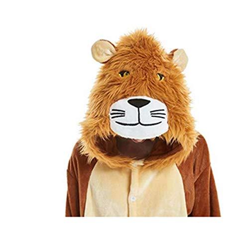 FMDD Tier Cosplay Kostüm Einhorn Cosplay Kostüm Onesie Pyjamas Erwachsene Halloween Cosplay Kostüm (Löwe, M(Höhe 158-167 cm))