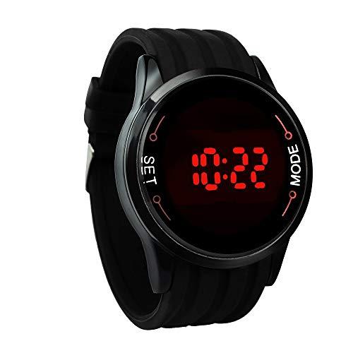IG-Invictus Wasserdichte Herrenuhr LED Touchscreen Datum Silikon Handgelenk Schwarz Uhr BK Touchscreen Uhr SELFLOVER