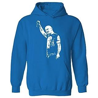 Damen Corey Taylor Agria Unmasked Iconic Rock-Gesicht Stein Sweatshirt mit Kapuze blau Saphirblau 48(Medium,XX-Large)