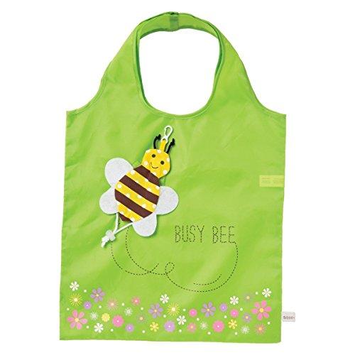 Tasche Shopping Stofftasche Beuteltasche Biene - 55 x 37 cm (Gift Biene)