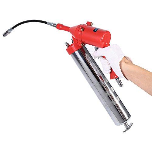 Hochdruck Pistolengriff Luft Fettpistole Handgriff Set mit Barrel Aluminium Fass Rohr für Garten Fahrzeug Pflegen (Heavy-duty-fass)