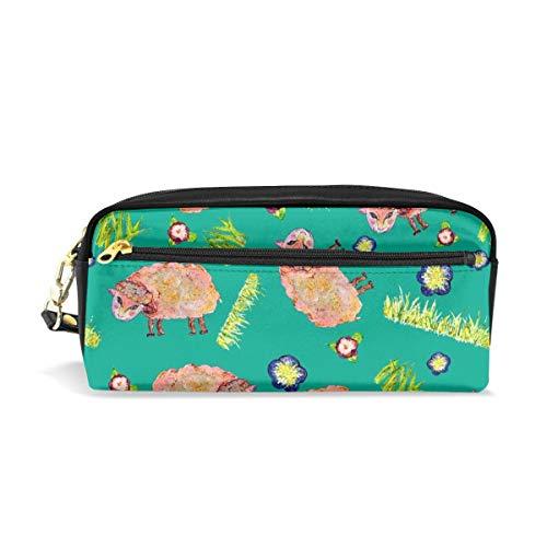 SOFT AS A CLOUD SHEEP Ditsy On Green Colorful_690 Sacchetti cosmetici Astuccio portatile da viaggio Trucco Organizer Borse multifunzione per le donne