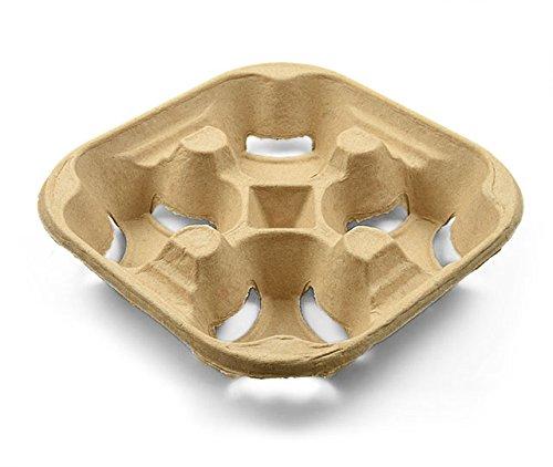 Becherhalter aus Pappe, Cup Carrier für 4 Becher, 180 Stück 4-cup Carrier