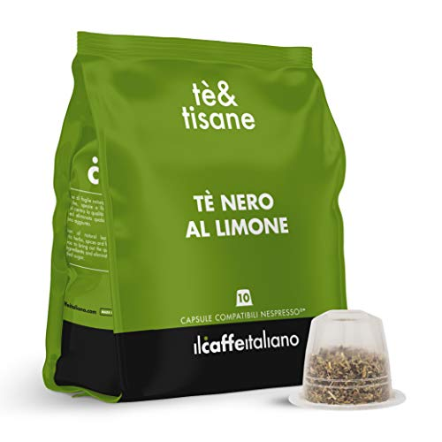 FRHOME - 50 capsule compatibili Nespresso Tè Nero al Limone - Il Caffè Italiano
