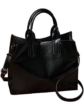 Damen Vintage Handtaschen Schultertasche große Schulranzen Tote Shopper Taschen Henkeltasche Umhängetasche