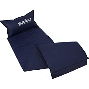 41U9W4XbfPL. SS300  - Summit Lightweight Outdoor Self Inflating Mat available in Blue - Single