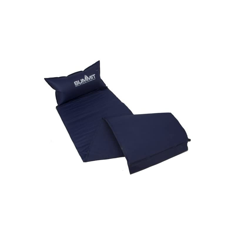 Summit Lightweight Outdoor Self Inflating Mat available in Blue – Single