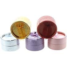 TOOGOO (R) 5 piezas anillo de la joyeria de carton redondo del pendiente del collar regalo paquete la caja de visualizacion