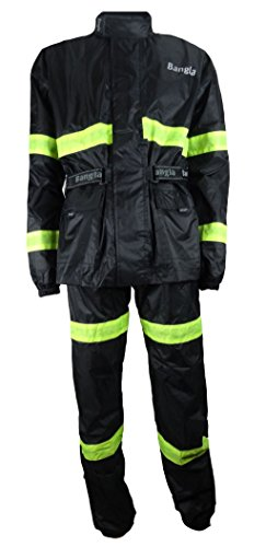 Bangla Regenkombi 2tlg Jacke und Hose Motorrad schwarz S