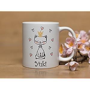 Individuelle Tasse Katze mit W