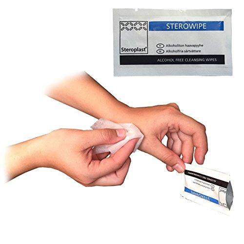50-x-steroplast-senza-alcool-sterile-sterowipe-nhs-approvazione-medico-ferita-taglio-detergente-anti