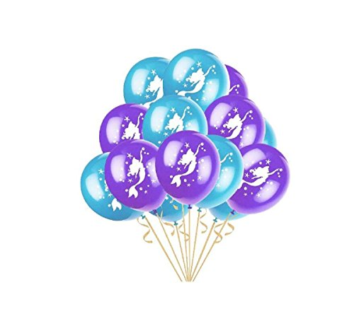 Kodoria 50 stücke Meerjungfrau Party Ballons Latex Ballons für Party Braut Baby Shower Meerjungfrau Geburtstag Party Dekorationen, 12 Zoll (Lila & Hellgrün)
