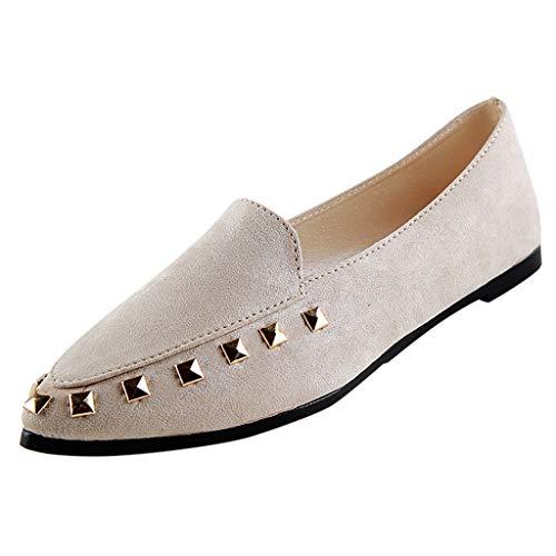 JYJM Damen Mode Faule Schuhe Flacher Mund Leichtgewicht Freizeitschuhe Sommer Flach Bequeme Sandalen Elegant Wild Einzelne Schuhe