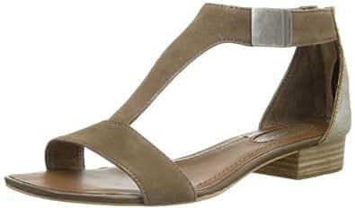 Marc O'Polo Flat Sandal 40110901103304, Damen Sandalen, Braun (almond 905), EU 41 1/3 (UK 7.5)