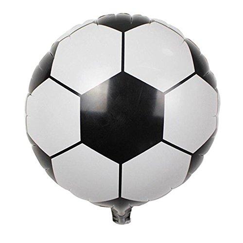 Zantec 10 unids / pack 18 pulgadas inflable pelota de voleibol de fútbol redondo forma globo de la hoja de juguete para niños fiesta de cumpleaños regalos