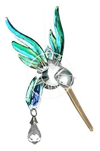 Fantasy Glas Kolibri Suncatcher Mit Einem Swarovski Kristall - Peacock (Peacock Suncatcher)