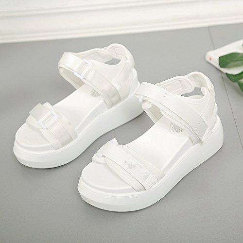 XY&GKSandales femmes Sandales Chaussures d'été, le Vent doux,Chaussures confort offrent le meilleur service 37white