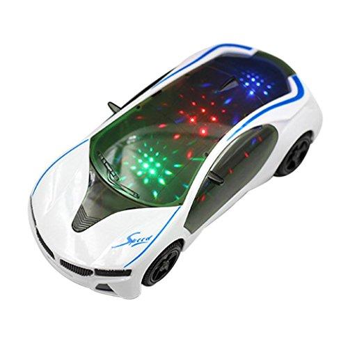 Multifunktions 3D Light Music Sports Auto, mamum 3D Supercar Style E-Spielzeug mit radlichter & Musik Kinder Jungen Mädchen Geschenk