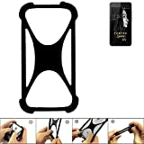 K-S-Trade Handyhülle FANTEC Limbo Silikon Schutz Hülle Cover Case Bumper Silikoncase TPU Softcase Schutzhülle Smartphone Stoßschutz, schwarz (1x)