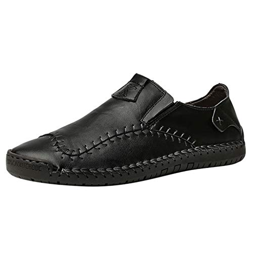 Mocassini Uomo Pelle Estivi Classic Scarpe Loafers Slip On Scarpe da Guida Scarpe da Barca Scarpe da Uomo Fatte A Mano di Grandi Dimensioni, Scarpe da Pisello Casual