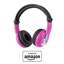 All-new, Made for Amazon, Bluetooth BuddyPhones | Play Time in Pink, ages 3–7
