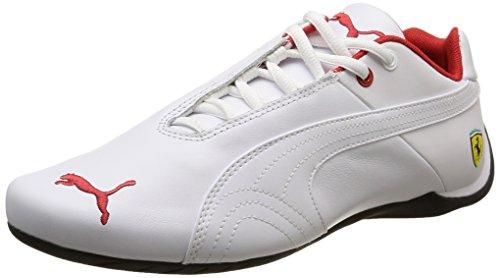 Puma Future Cat Leather SF - Unisex-Erwachsene Sneakers, Weiß - Weiß - Blanc (White/White) - Größe: 44 - Puma Ferrari Future Cat