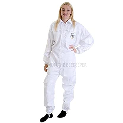 Simon The Beekeeper Buzz Work Wear White Suit With Fencing Veil - XL 4