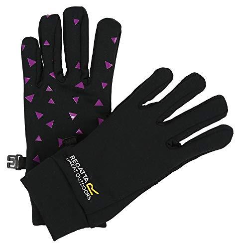 y' Lightweight Stretch Rubber Palms Gloves Handschuhe, Black/Camellia, 7-10 ()