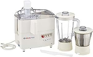 Bajaj Majesty JX 4 450-Watt Juicer Mixer Grinder (Ivory Colour))