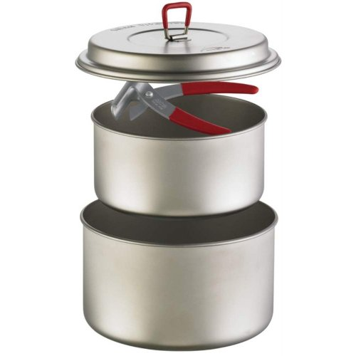 MSR Titanium 2 pot set cookware grey cookware