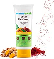 Mamaearth Ubtan Natural Face Wash for All Skin Type with Turmeric & Saffron for Tan removal and Skin brigh
