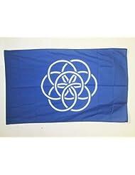 BANDERA de la HUMANIDAD 150x90cm para palo - BANDERA DEL PLANETA TIERRA 90 x 150 cm - AZ FLAG