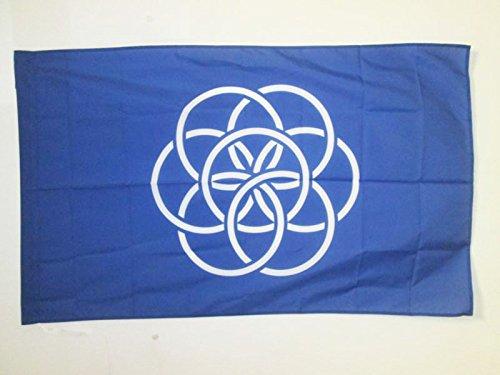 AZ FLAG Flagge Planet Erde 150x90cm - Blauer Planet Fahne 90 x 150 cm Scheide für Mast - flaggen Top Qualität
