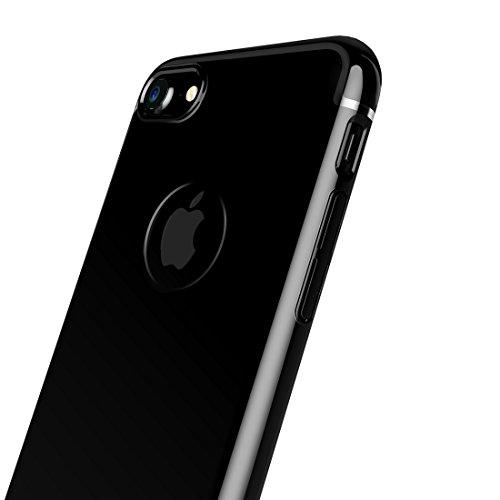 iPhone 7 jet black Fall Baseus® - elektroplattiert rund um den Schutz, super schlank, Anti Kratzer, stoßfest und staubdicht Schutz hart harte Abdeckung Jet Black