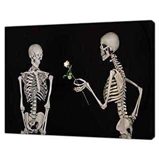 Skeleton Couple Photo/Picture Print ON Framed Canvas Wall Art Home Decoration 40'' x 30'' inch-38mm Depth