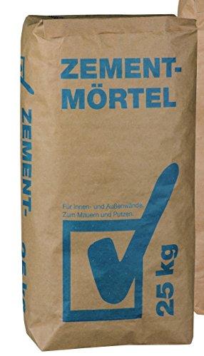 Zement Mörtel 25 kg Sockel - für innen und aussen (0,28€/kg)