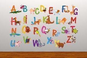 Elegant Full Colour Animal Alphabet Educational Wall Sticker Decal Kids Bedroom  Playroom Nursery: Amazon.co.uk: Kitchen U0026 Home Part 21
