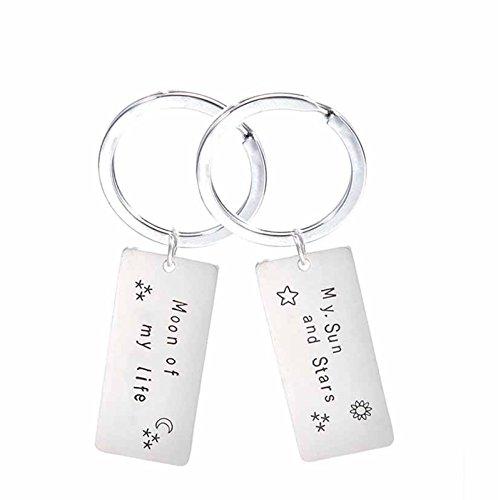 Adisaer Schlüsselanhänger Edelstahl Paar Schlüsselringe gebraucht kaufen  Wird an jeden Ort in Deutschland