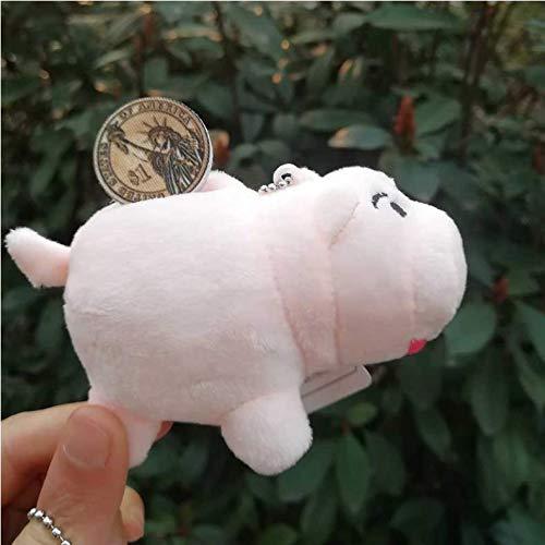 Plüschtier 1 Stück 8Cm Spielzeug Rosa Schwein Schlüsselbund Weiche Stofftier Puppe Tasche Anhänger -